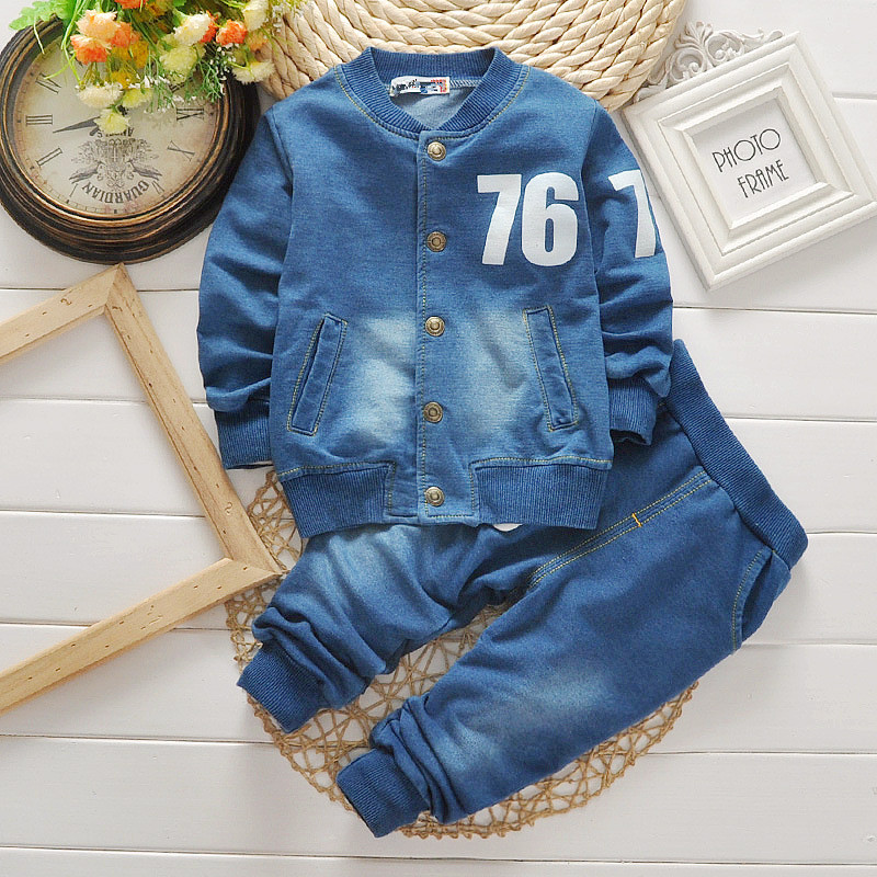 Korean-design-child-unisex-denim-button-round